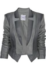 Hervé Léger Julie Leather Jacket