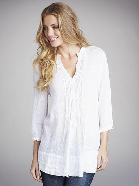 Womens White Tunic Blouse