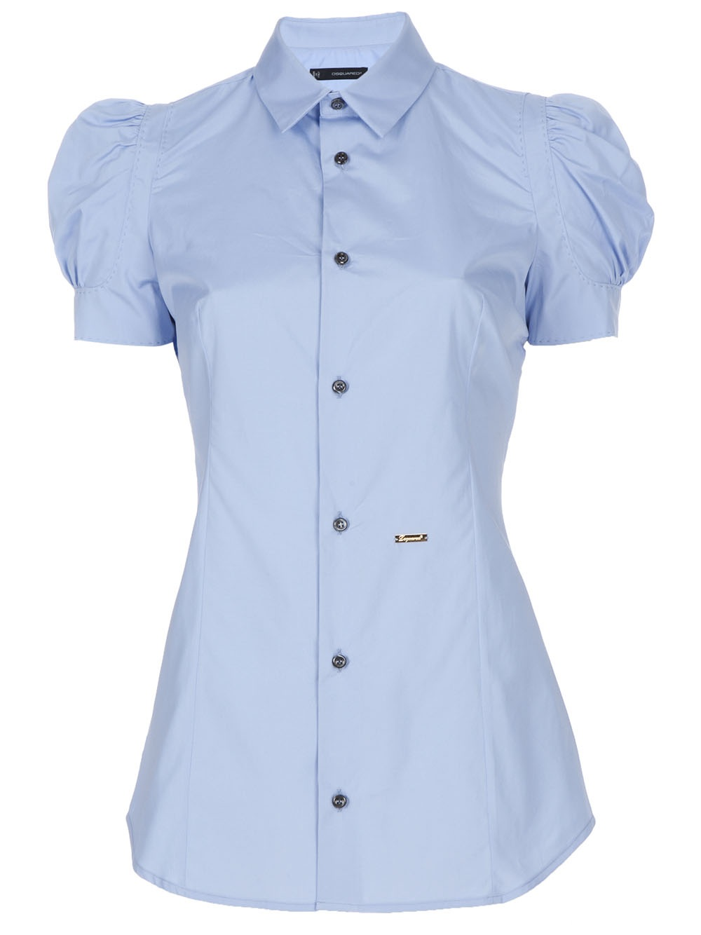 Dsquared 178 Puff Sleeve Shirt In Blue Lyst