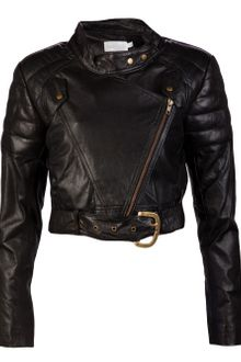 Shakuhachi Leather Paneled Biker Jacket - Lyst