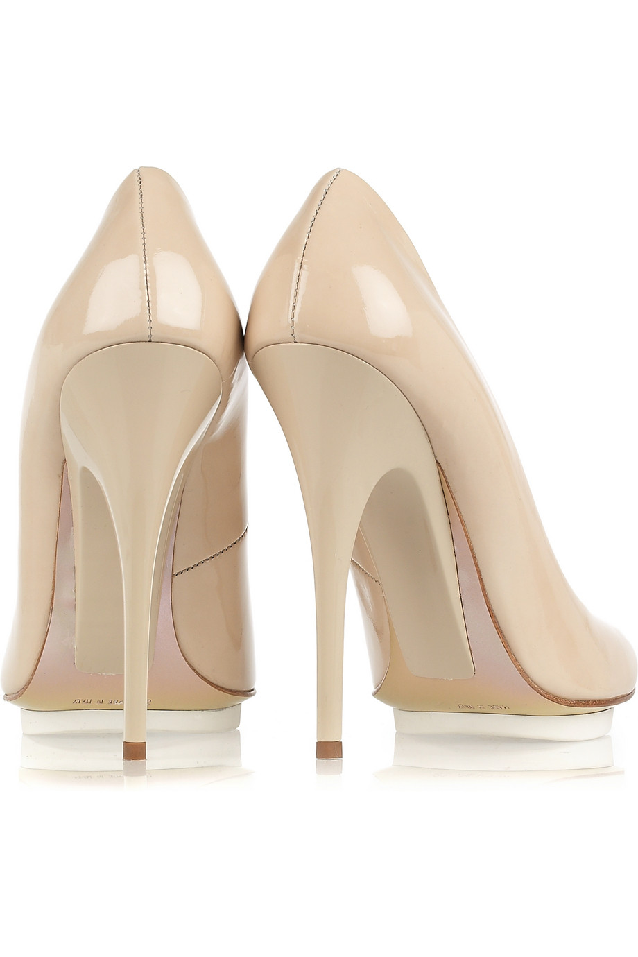 Giuseppe Zanotti Patent-leather Pumps in Nude (Natural) - Lyst