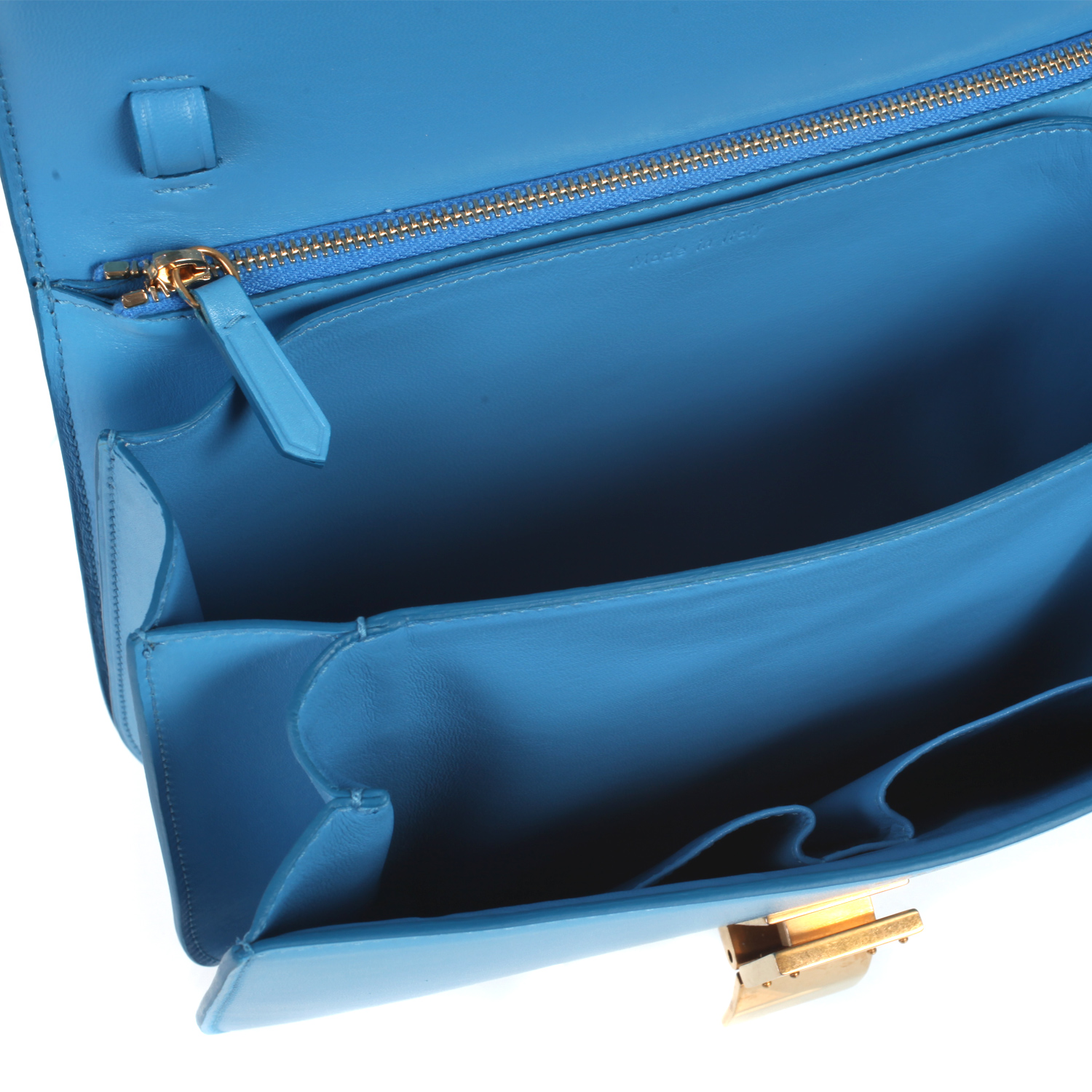 C¨¦line Classic Medium Flap Bag in Box Leather in Blue (lagoon) | Lyst