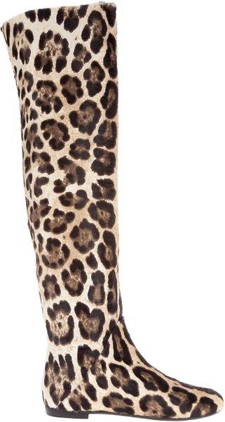 Giuseppe Zanotti Pony Skin Boot In Animal Leopard Lyst