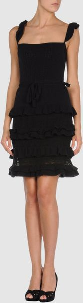 Dior Short Dress in Black - Lyst