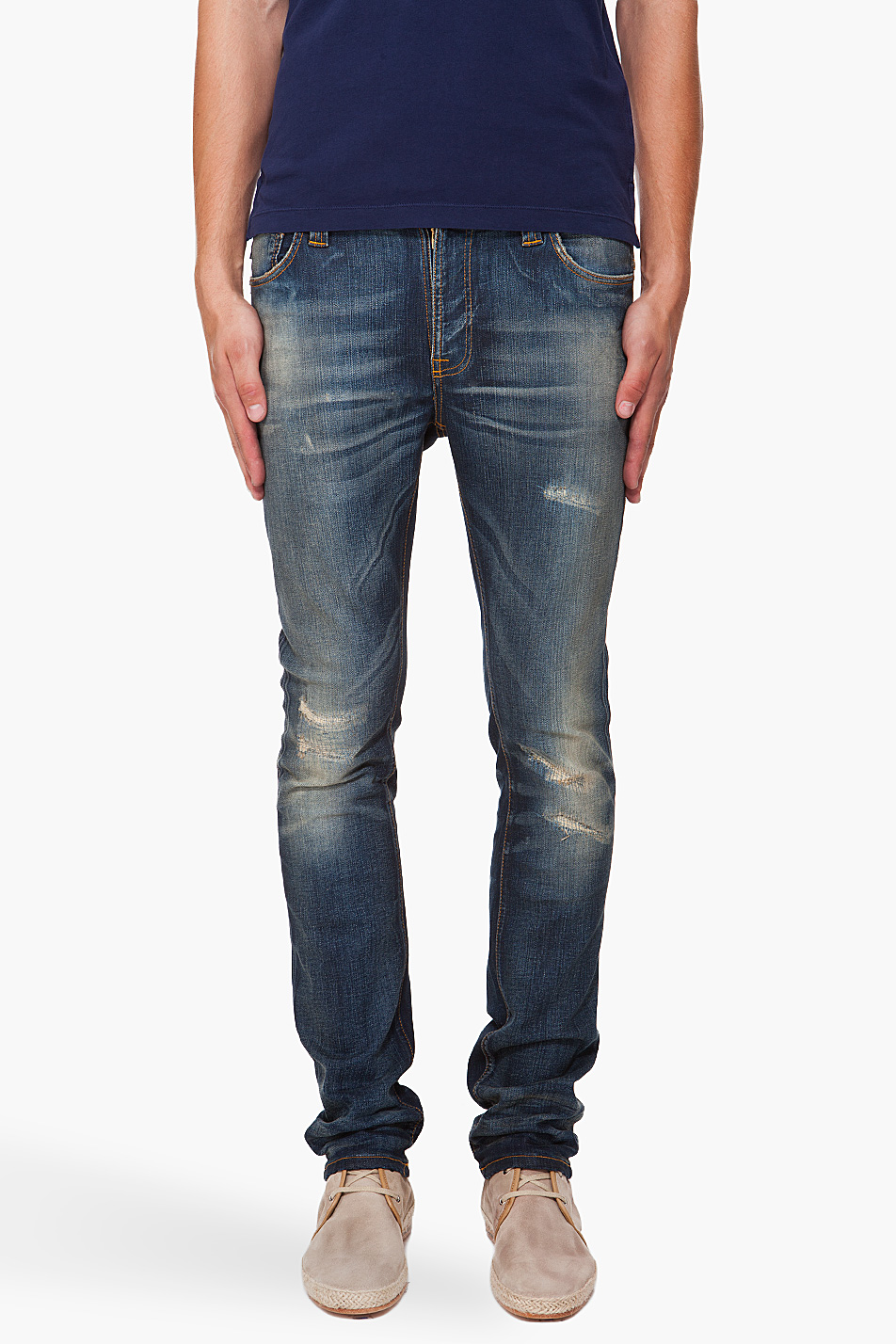 Lyst Nudie Jeans Thin Finn Peter Replica Blue In
