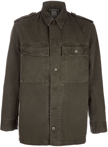 Libertine Army Jacket in Green for Men (army)