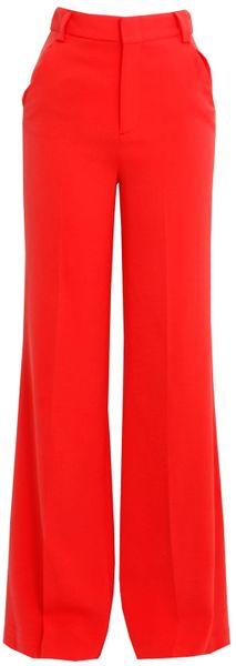 Alice + Olivia Coral High Waist Pant in Red - Lyst