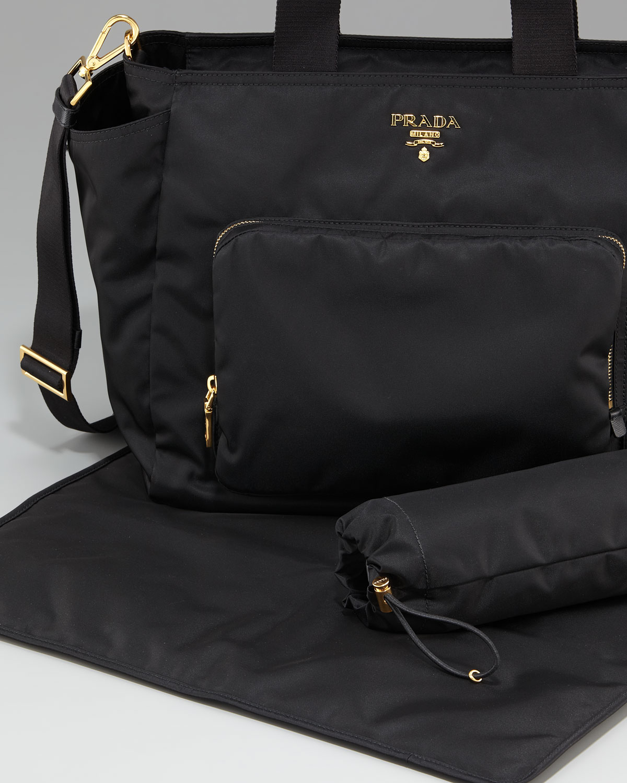4c4b0f7cb61c ... italy lyst prada vela baby bag in black 19366 3806e