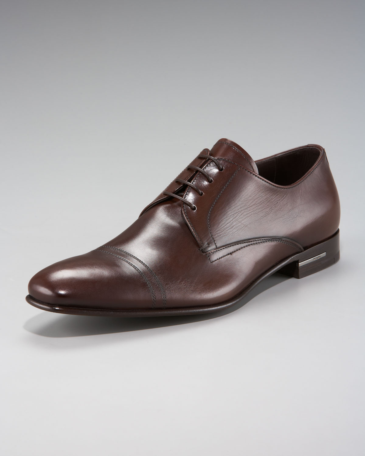 c138d18e4bb6 Prada Cap-toe Oxford in Brown for Men - Lyst