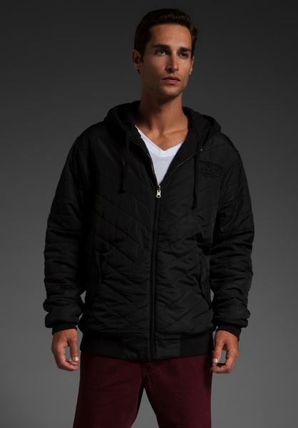 Rvca Deacon Reversible Hoodie in Black for Men