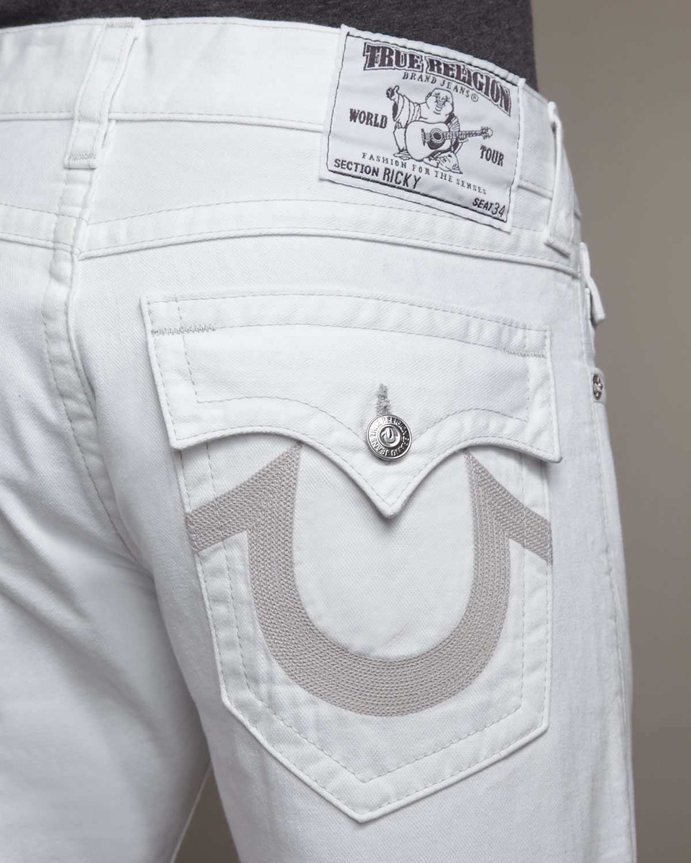 Lyst - True religion Ricky Optic Rinse Jeans in White for Men