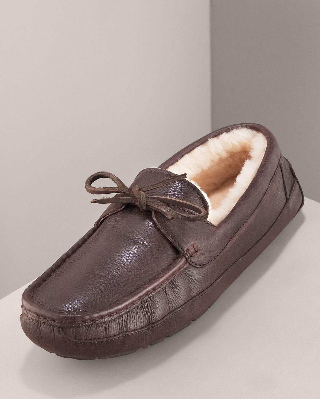 1b45cf21f9b UGG Brown Byron Slipper, Chocolate Leather for men