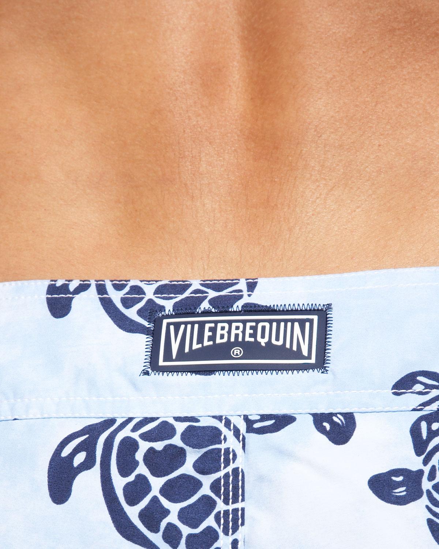 vilebrequin turtle print ocean boardshorts in blue for men lyst