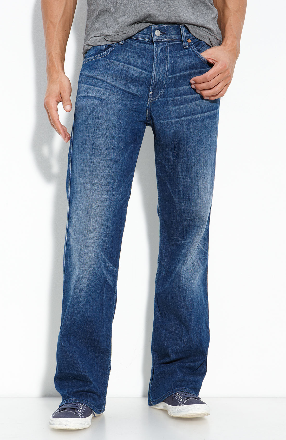 Mens Loose Bootcut Jeans