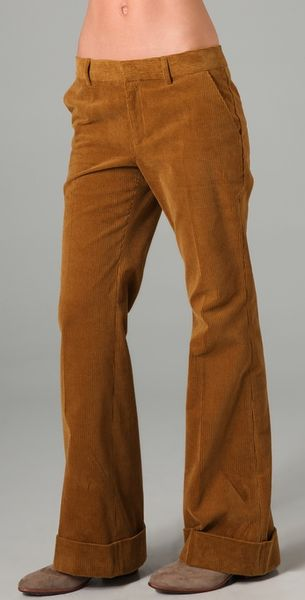 Boy By Band Of Outsiders Wide Leg Corduroy Trousers In