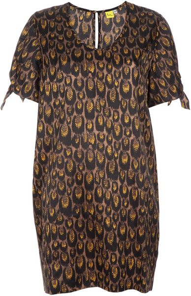 Paul By Paul Smith Printed Dress in Brown