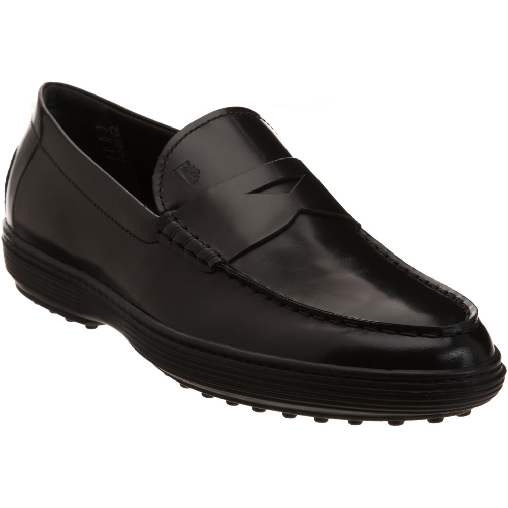 John Lobb Shoes >> Tod's Striped Sole Penny Loafers in Black for Men | Lyst