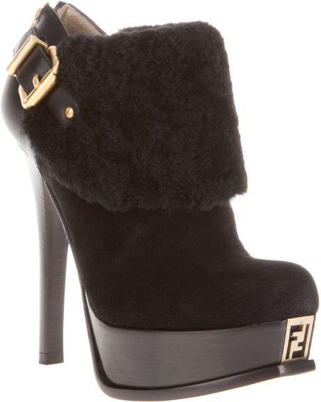 Fendi Platform Shoe Boot in Black