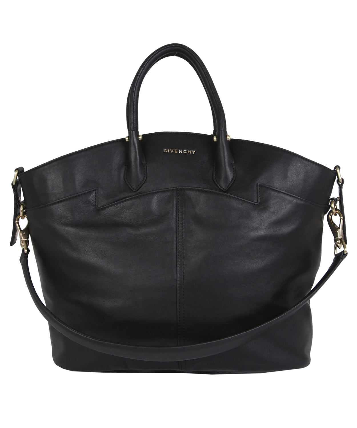 givenchy large black leather tote bag in black lyst