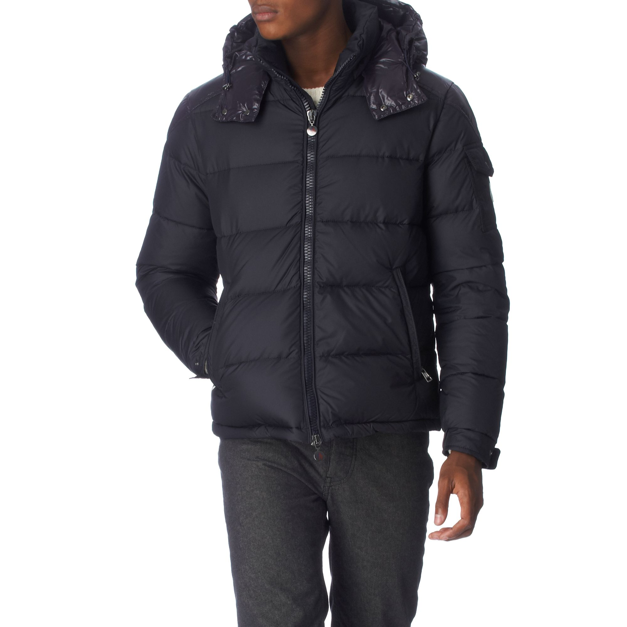 Moncler Padded Cheval Jacket in Navy (Blue) for Men