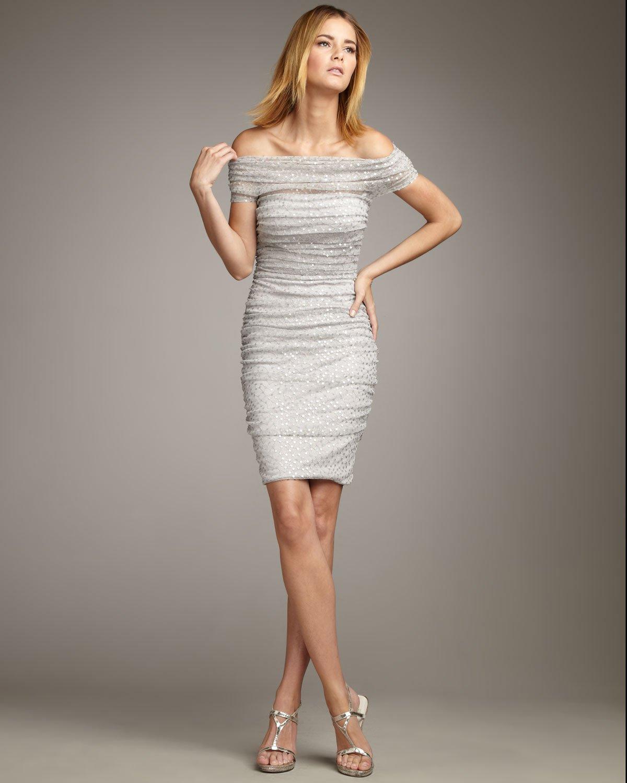 Sequin Off The Shoulder Dress