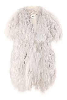2nd Day Carla Mongolian Shaggy Fur Gilet - Lyst