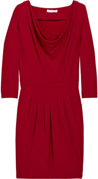 Paul & Joe Sister Andromed Cowl-neck Jersey Dress in Red - Lyst