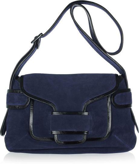 Navy Suede Shoulder Bag 73