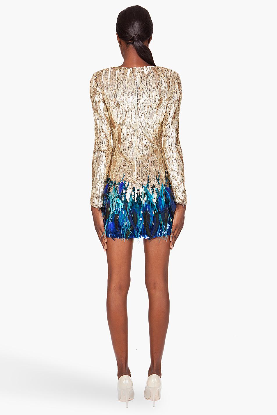 Matthew Williamson Liquid Sequin Dress In Metallic Lyst
