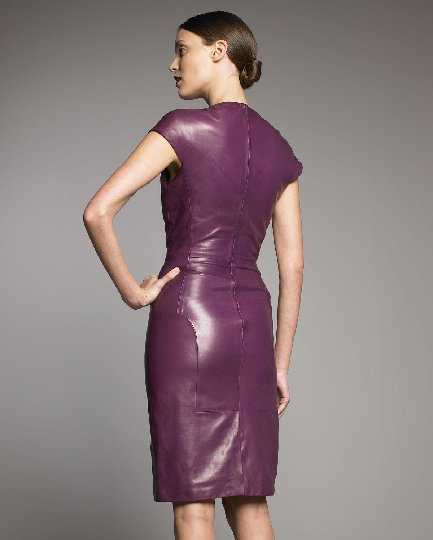 Purple Leather Dresses