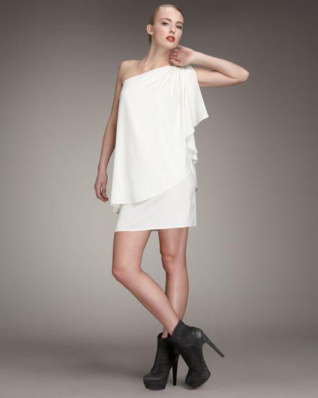 Rachel Zoe Draped Grecian Dress In White Lyst