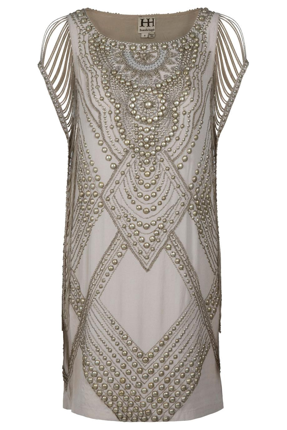 Haute Hippie Studded Dress In Natural Lyst