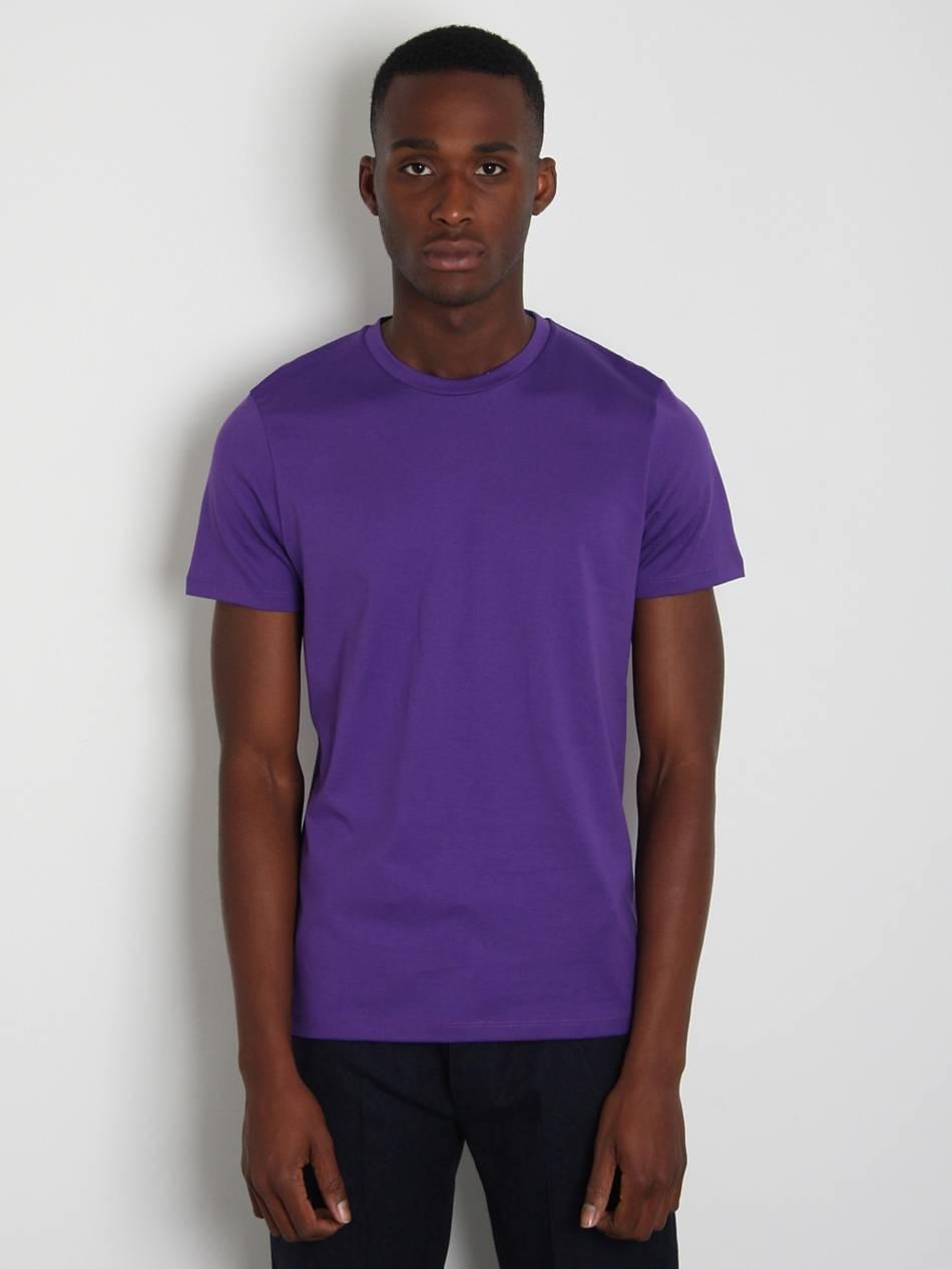 Jil sander mens basic t shirt in purple for men lyst for Jil sander mens shirt