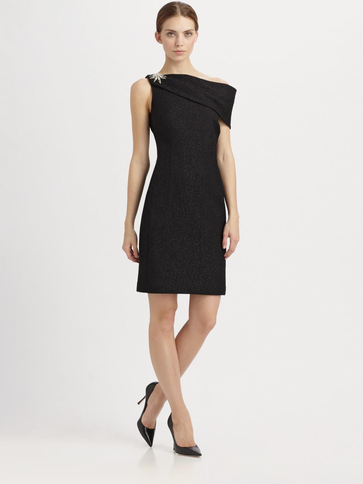 Kay unger black cocktail dress