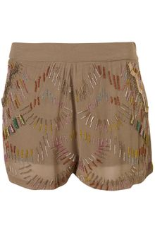 Topshop Premium Multi Beaded Shorts - Lyst