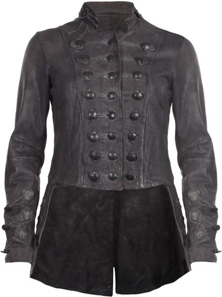 Allsaints Brocade Military Tailcoat in Gray (smoke)