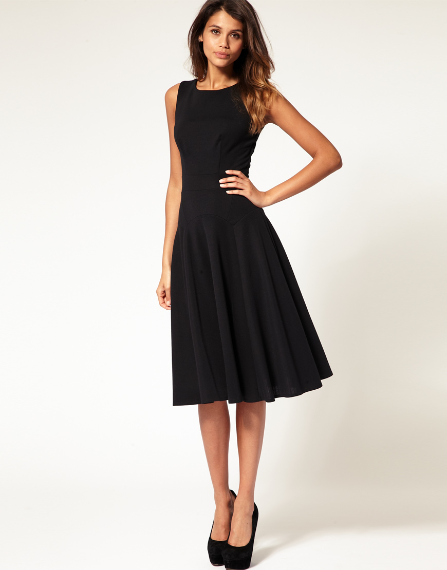 Lyst Asos Collection Asos Midi Fit Amp Flare Dress With