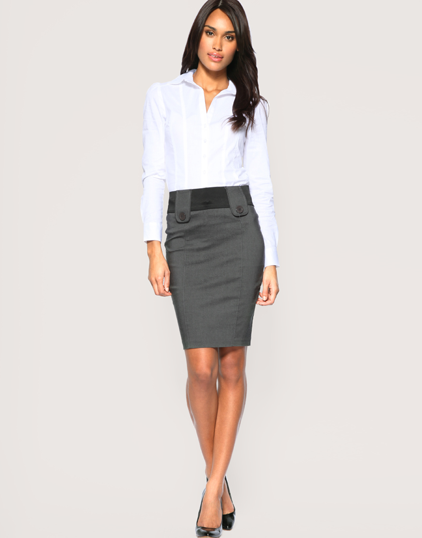 Asos collection Asos Tailored Bengaline Tab Front Pencil Skirt in ...