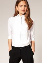 ASOS Collection Asos Pintuck Winged Collar Shirt