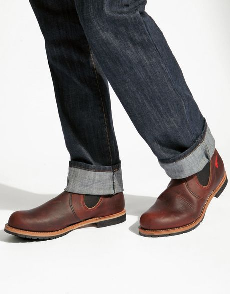 Red Wing Chelsea Rancher Boots In Brown For Men Lyst