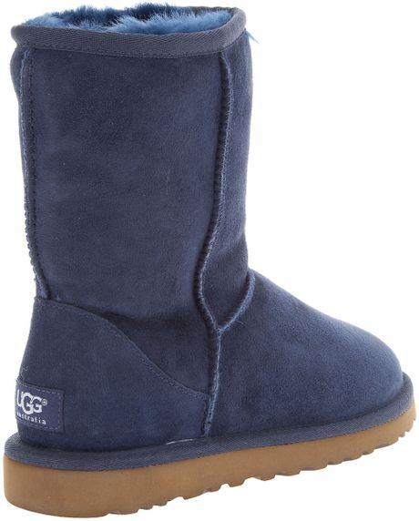 ugg classic short boots navy blue