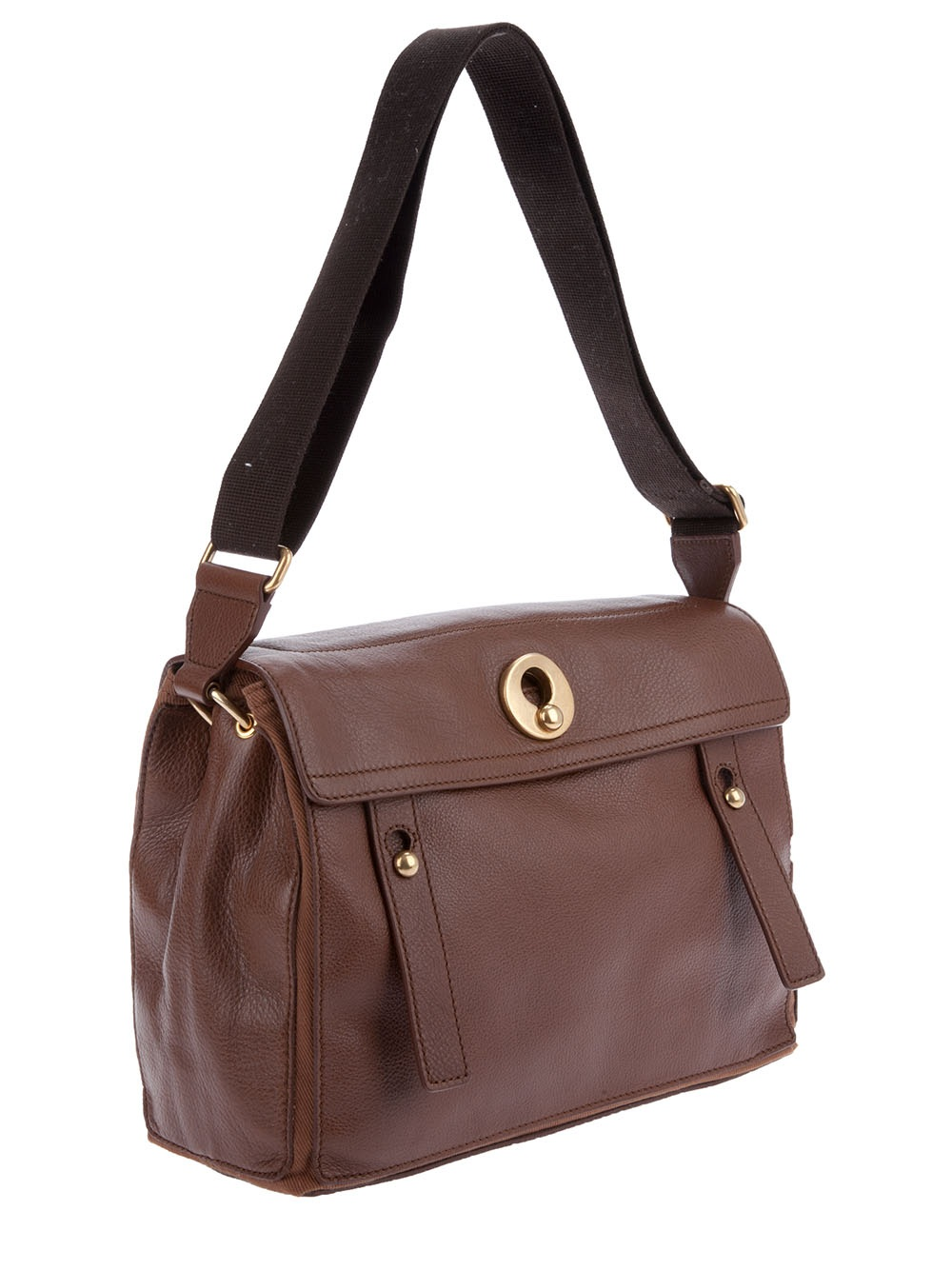 Saint laurent Travel Muse Two Leather Shoulder Bag in Brown | Lyst