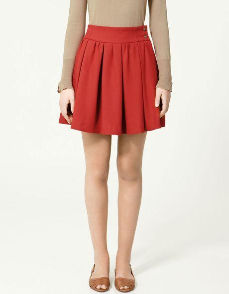zara pleated skirt in lyst