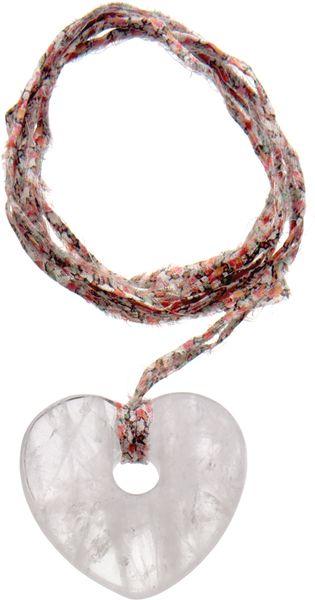 Aurelie Bidermann Heart Necklace On Liberty Thread in White