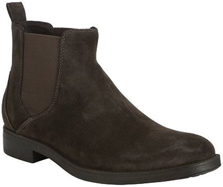 geox blade suede chelsea boots brown in brown for lyst