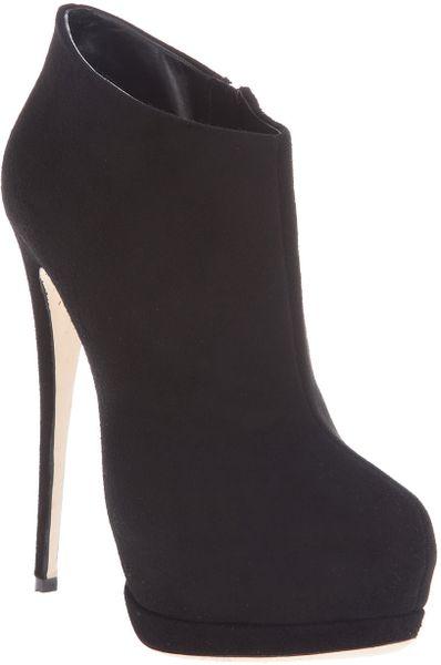 Giuseppe Zanotti Suede Shoe Boot in Black