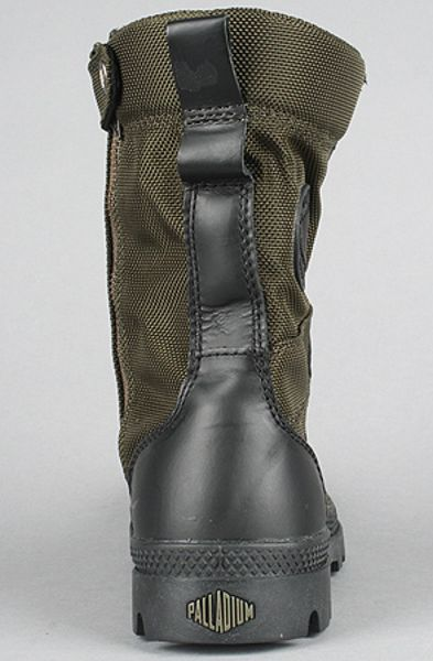 Palladium The Pampa Tactical Boot In Olive Drab Amp Black In