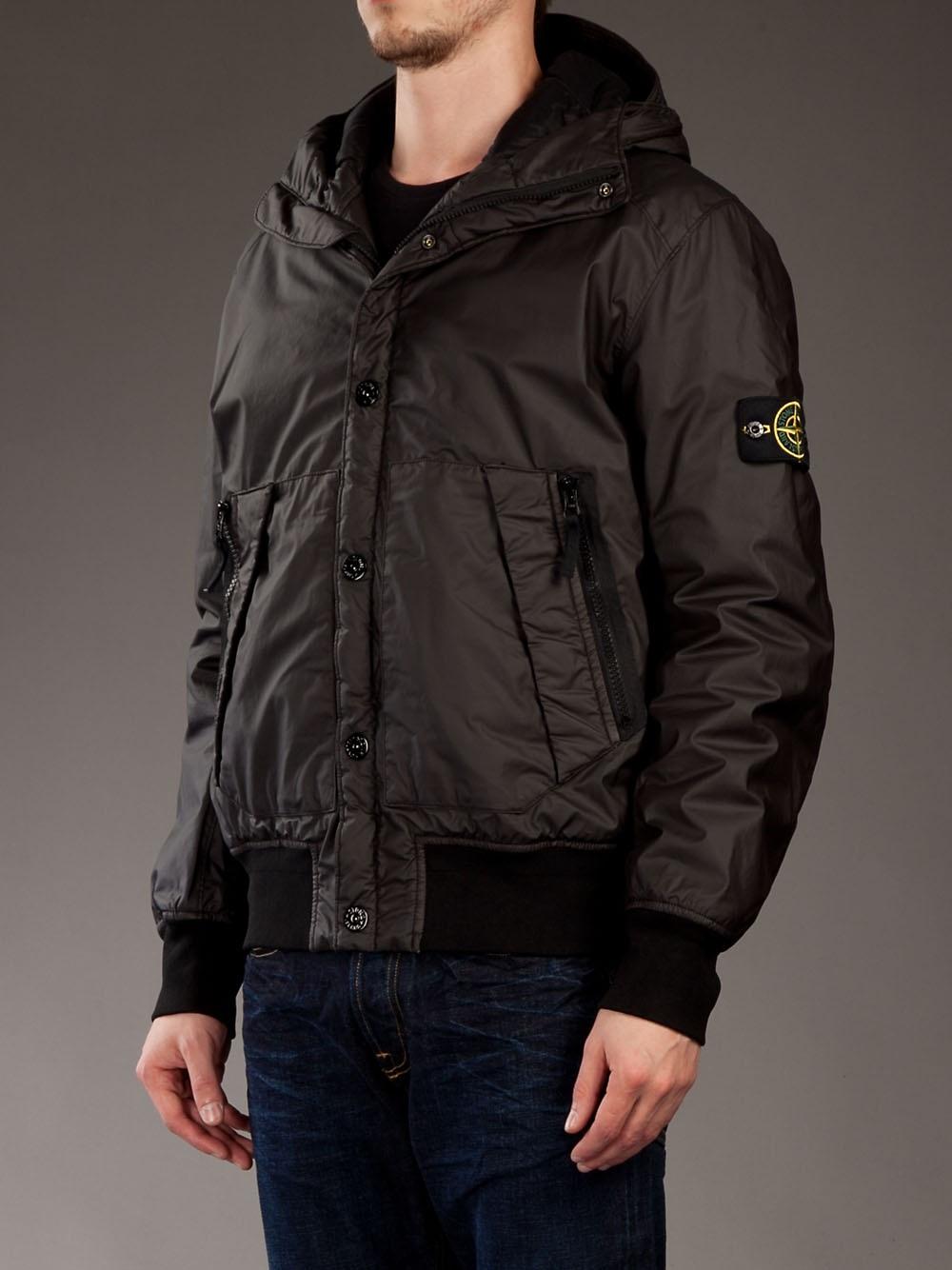 9148e9ddc Stone Island Black Bomber Jacket for men