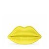 Lulu Guinness Acid Yellow Snakeskin Lips Clutch in Yellow - Lyst