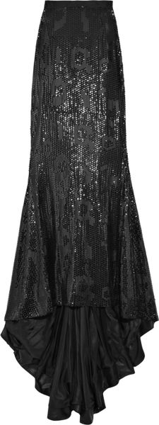 By Malene Birger Acier Sequin-embellished Maxi Skirt in Black